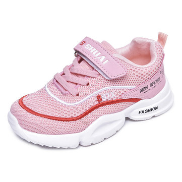 Unisex Kids Mesh Hook Loop Casual Shoes