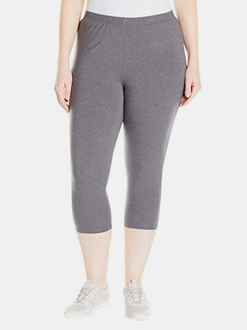 Casual Solid Color Yoga Pants