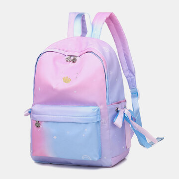 Oxford Ombre Earphone Butterfly Knot Hardware Backpack