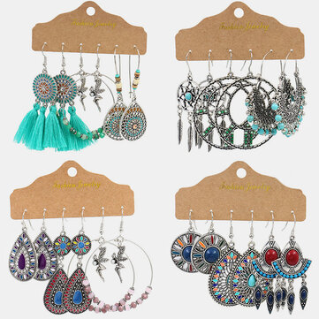 Dreamcatcher Tassel Earrings Set