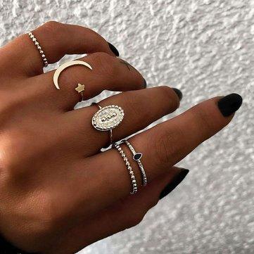 Böhmische Fingerringe Set