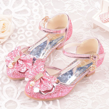 Girls Bling Bowknot Princess Elegant Shoes