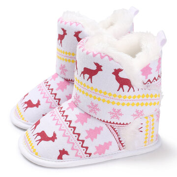 Baby Girls Christmas Warm Snow Boots Toddler Shoes