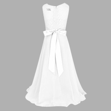 Girls Lace Chiffon Long Dress 4Y-15Y