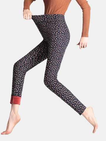 Floral Printed Slim Stretch Thicken Leggings