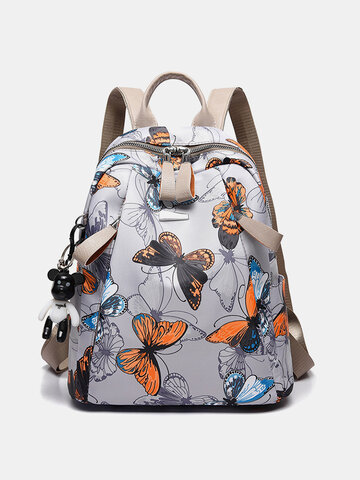 Oxford Large Capacity Butterfly Feather Backpack