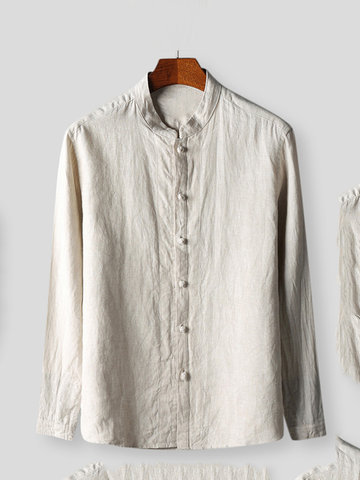 Cotton National Style Vintage Casual Camicia