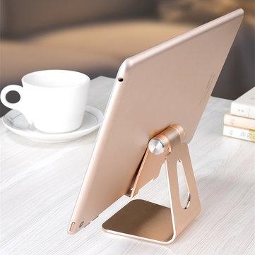 ألومنيوم أشابة حامل سطح مكتب قابل للتعديل مضاد للانزلاق شحن حامل لجهاز iPad هاتف Tablet