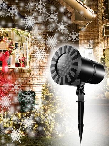 クリスマススノーフレークプロジェクションランプ屋外景観ランプ防水芝生ランプクリスマスデコレーションランプ
