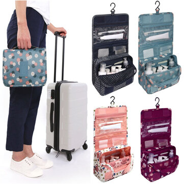 Women Travel Cosmetic Makeup Storage Bag  Hanging Organizer