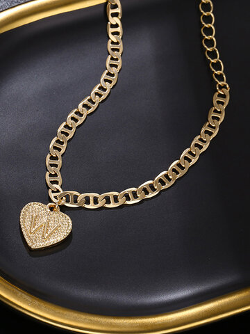 26 English Letters Heart Anklet