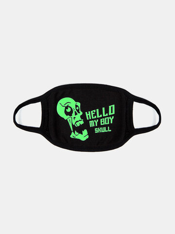 Skull Style Face Mouth Mask Luminous Fluorescence Dust Mask