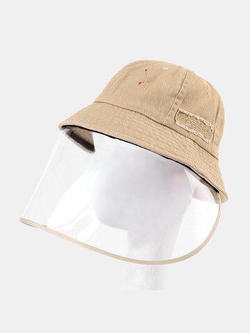 COLLROWN Detachable Sun Visor Sun Hat Anti-fog Cover Face