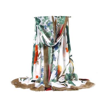 Vintage Vogue Soft Silk Scarf Shawl