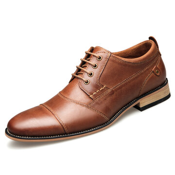 Men Genuine Leather Business Formal Dress Shoes
