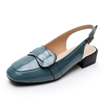 Buckle Strap Slingblack Sandals