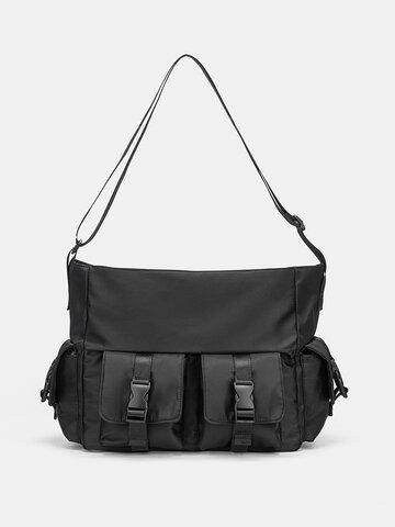 Preppy Double Release Buckle Crossbody Bag