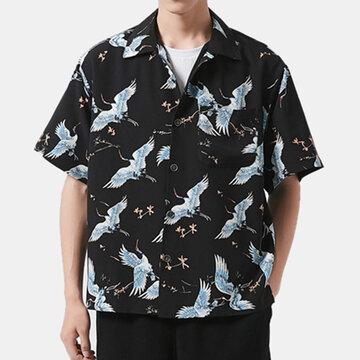 Camisas impressas animais do verão havaiano engraçado dos homens