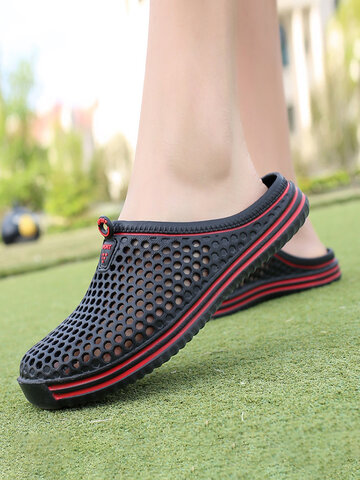 Summer Couples Hollow Out Garden Shoes Casual Slippers