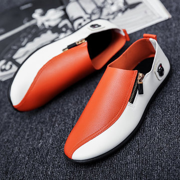 Men Leather Slip On Soft Casual Driving Shoes