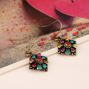 Bohemian Colorful Diamond Ear Drop