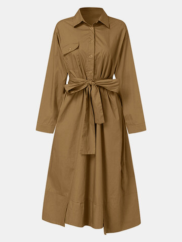 Solid Color Asymmetrical Casual Coat