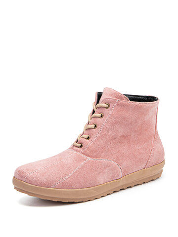 Synthetic Suede Comfy Non Slip Ankle Boots