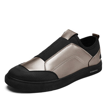 Men Eleatic Band Slip On Trainers