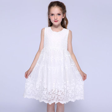 White Girls Princess Dress per 1-7Y