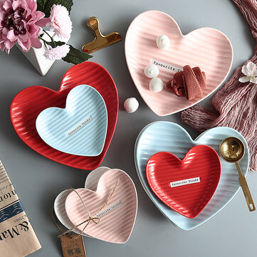 Creative Heart-Shaped Plate Snack Plate