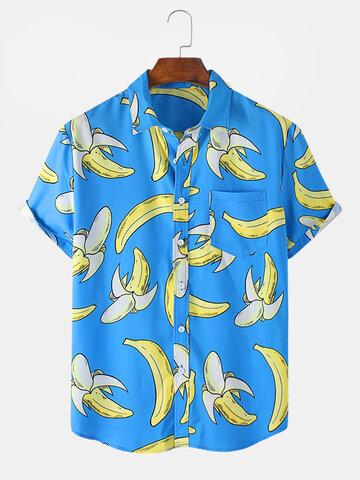 Chemise de plage amusante à imprimé banane