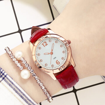 Diamonds Elegant Women Quartz Watch