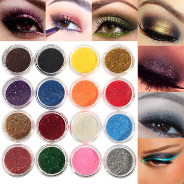 16 Mixed Colors Glitter Powder Eyeshadow Makeup Smoked Eye Shadow Set di cosmetici
