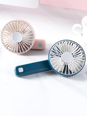 Mini portátil de carregamento Ventilador pequeno portátil silencioso e multi-velocidade Ventilador de velocidade do vento Ventilador USB dobrável para escritório portátil ferramenta doméstica