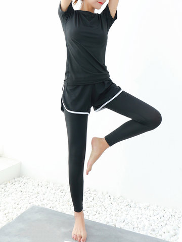 Solid Color Quick-drying Exercise Tracksuit