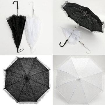 54センチ花嫁手作りフラワーガールズバッテンブルクレースパラソル結婚式パーティー太陽傘