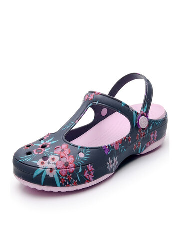 Hollow Flowers Pattern Jelly Sandals