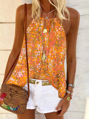 Multi-color Floral Tank Top