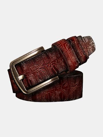 125CM Men Cowhide Leather Belt