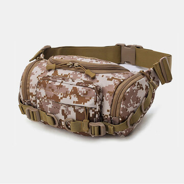 Canvas Camouflage Outdoor Tactical Sport Riding Waist Bag Sling Bag Chest Bag