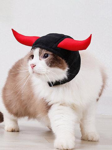 Articoli per animali domestici di Natale Copricapo per animali domestici per gatti Copricapo per gatti con corna per gatti