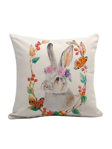 EASTER Rabbit Bunny Pillow Cover