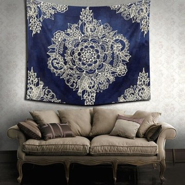 Blue Indian Tapestry Bedspread Blanket Wall Hanging Throw Mat Home Decoration