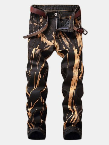 Retro Copper Straight Washed Jeans