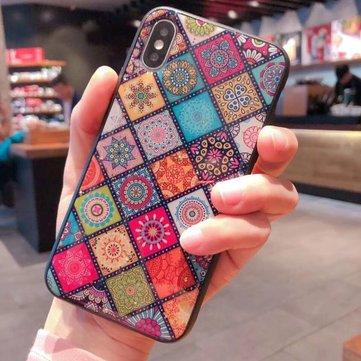 Vogue Colored Rhombic Plastic Phone Case