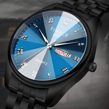 Relógio de Quartzo Luminoso Estilo Empresarial