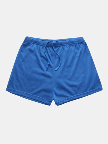 Solid Color Breathable Casual Shorts