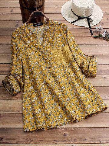 Vintage Hemd mit Blumendruck