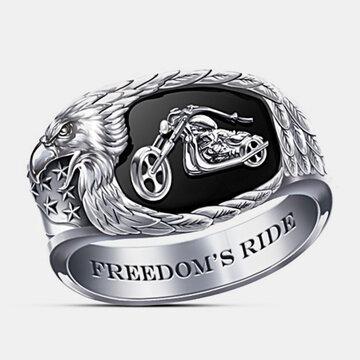 Eagle Beak Wings Men Ring