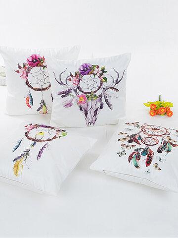 Satin Simulation Silk Dream Catcher Pillowcase
